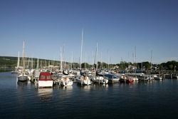 Boats at the Watkins Glen marina on Seneca Lake