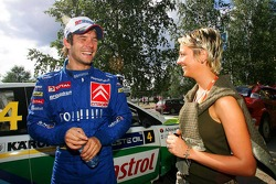 Sébastien Loeb with his wife