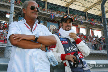 Tiago Monteiro with his father