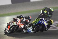 Valentino Rossi, Yamaha Factory Racing and Yonny Hernandez, Pramac Racing