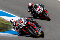 Leon Haslam, Aprilia Racing Team and Jordi Torres, Aprilia Racing Team