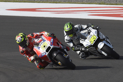 Andrea Iannone, Ducati Team and Cal Crutchlow, Team LCR Honda