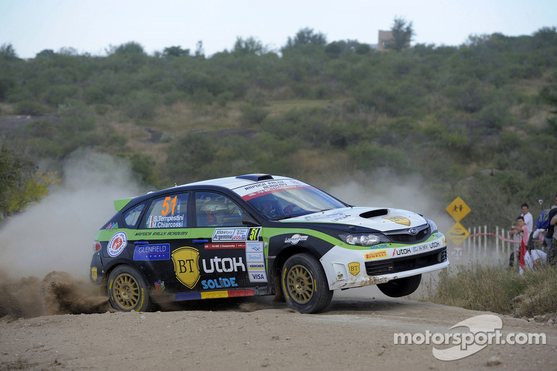 Simone Tempestini en Matteo Chiarcossi, Subaru Impreza, Napoca Rally Academi
