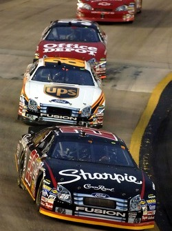 Jamie McMurray leads Dale Jarrett and Carl Edwards