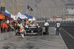 Pit stop for the #6 Playboy Racing/ Mears-Lexus/Riley Lexus Riley: Burt Frisselle, Mike Borkowski, Brian Frisselle