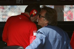 Luca di Montezemolo talks with Jean Todt