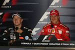 FIA press conference: race winner Michael Schumacher and Kimi Raikkonen