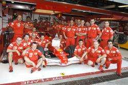 Ferrari team members with the Confindustria Award