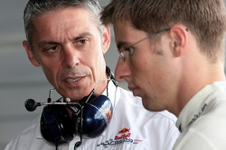 Test team manager Anthony Burrows and Michael Ammermueller