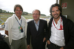 M. Tomczyk abd Piccinini from FIA with Stephane Ratel