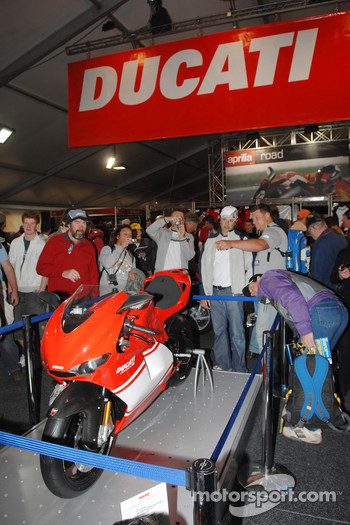 A Ducati on display