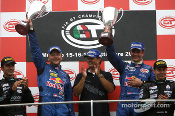 GT1 podium: overall and class winners Karl Wendlinger and Philipp Peter