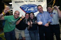 Third place team with Marino Franchitti, Tim Mayer and Landon Thomas