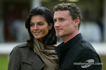 Golf tournament: David Coulthard and his girlfriend Karen Minier