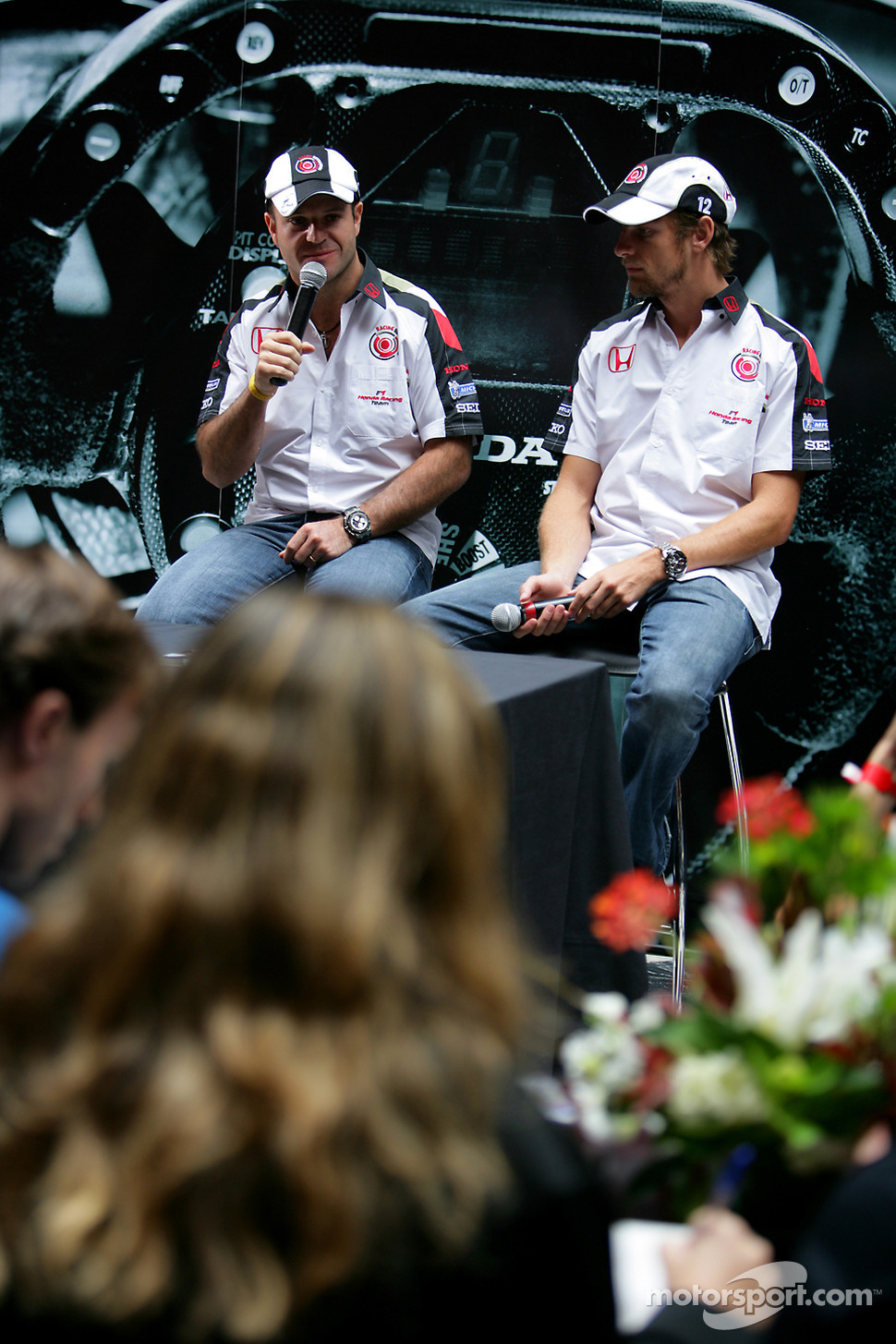 Lucky Strike PR day: Jenson Button and Rubens Barrichello give an interview
