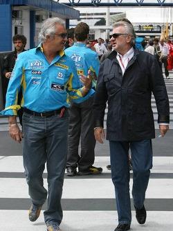 Flavio Briatore and Willi Weber