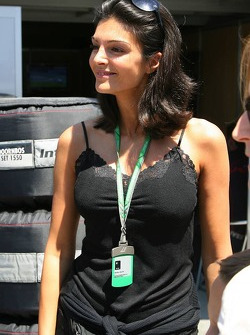Karen Minier, girlfriend of David Coulthard