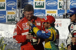 Podium: champagne for Felipe Massa and Ross Brawn