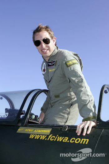 Chris Atkinson prepares for his stunt flight training