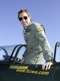 Chris Atkinson prepares for his stunt flight training