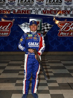 Pole winner Brian Vickers holds the Beretta Shotgun
