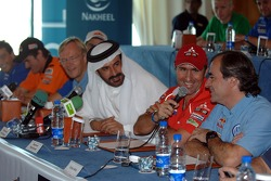 Press conference: FIA's Vice-President for sport and 14-time Middle East Rally Champion Mohamed Ben Sulayem, Stéphane Peterhansel and Carlos Sainz