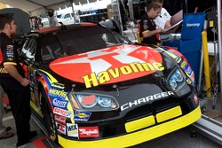 The Texaco Havoline Dodge of Juan Pablo Montoya at tech inspection