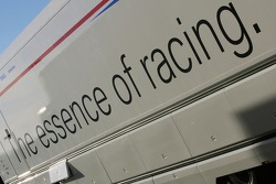 BMW Sauber F1 team transporter