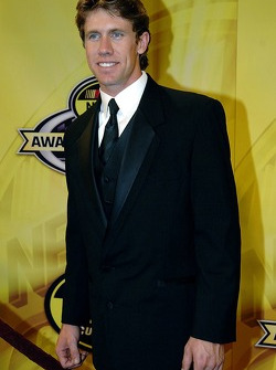 Carl Edwards arrived dressed for the occasion