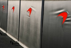 Screens outside McLaren Mercedes