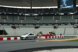 The first drive on the new track in the Stade de France