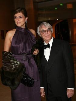 Bernie Ecclestone, FOM President and wife Slavica