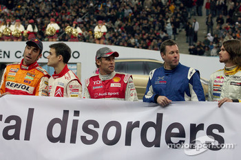 Nani Roma, Daniel Sordo, Tom Kristensen, Colin McRae and James Thompson