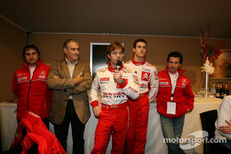 Team Citroën with Daniel Elena, Guy Fréquelin, Sébastien Loeb, Daniel Sordo and Marc Marti