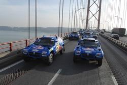 Volkswagen Motorsport team arrives in Lisbon