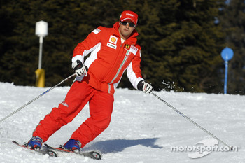 Felipe Massa on ski