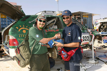 Filipe Palmeiro and Nasser Al Attiyah