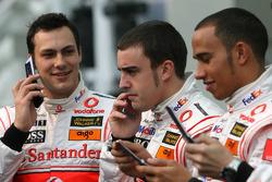 Fernando Alonso, Lewis Hamilton and Gary Paffett