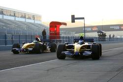 Heikki Kovalainen and Giancarlo Fisichella