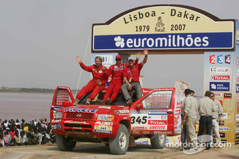 Car category podium: Paul Belmondo and Guy Leneveu
