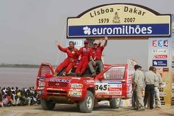 Car category podium: Paul Belmondo and Guy Leneveu