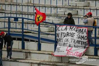 Fans at the circuit to see Ferrari test