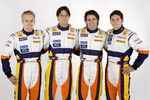 Heikki Kovalainen, Nelson A. Piquet, Ricardo Zonta and Giancarlo Fisichella