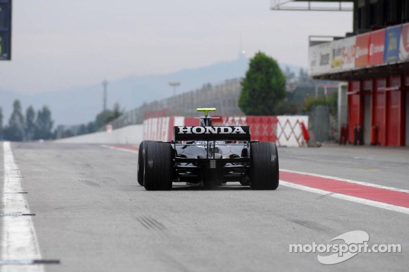 Jenson Button drives the Honda RA107