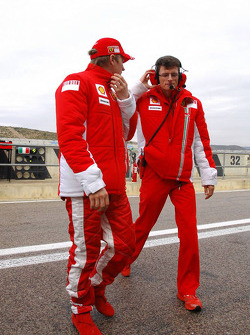 Kimi Raikkonen and Chris Dyer