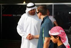 Sheikh Mohammed bin Zayed al Nahayan and Fernando Alonso, McLaren Mercedes