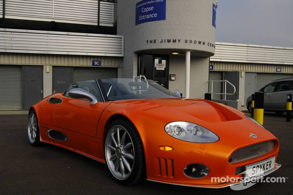 A Spyker Super Car at the launch