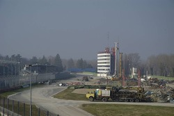 Construction work at the Imola Circuit  Autodromo Enzo E Dino Ferrari