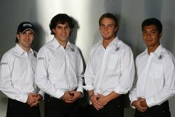 Markus Winkelhock, Adrian Valles, Giedo van der Garde and Fairuz Fauzy