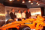 Michiel Mol, Christijan Albers, Adrian Sutil and Victor Muller
